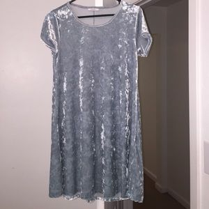 Lulus short light blue velvet dress
